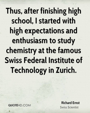 Thus, after finishing high school, I started with high expectations ...