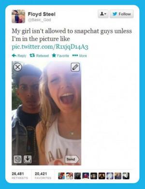 Jealous boyfriend…