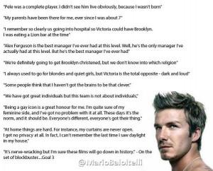 David Beckham Quotes Tumblr...