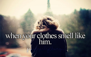 couple Him boy smell scent