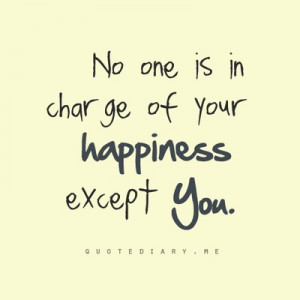in charge of your happiness