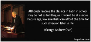 More George Andrew Olah Quotes