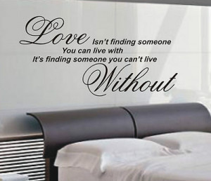 Love isn't finding wall art sticker quote - 4 sizes - Bedroom wall ...