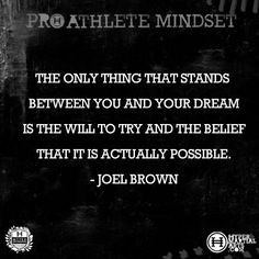 Inspirational Quote by Joel Brown for a Pro Athlete Mindset | Hyper ...