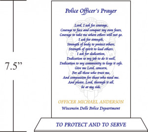 ... after duty has ended amen police officer s name police department