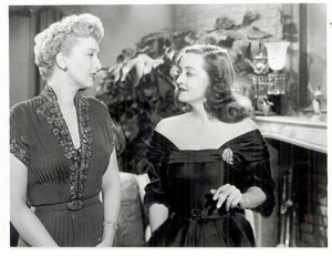 Celeste Holm and Bette Davis in All About Eve.