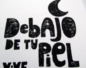Linocut Print - Debajo De Tu Piel Vive La Luna - Pablo Neruda Quote ...