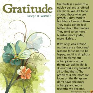 Lds Gratitude Quotes Gratitude