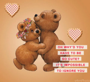 cute bears scrap it is impossible to ignore you orkut scrap