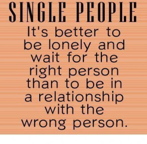 Quotes on single people and relationship