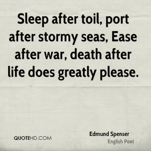 Edmund Spenser Death Quotes