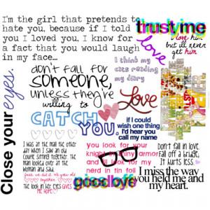 teenage love quotes - Polyvore