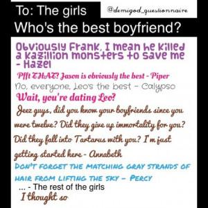 Percy Jackson: Best Boyfriend Award