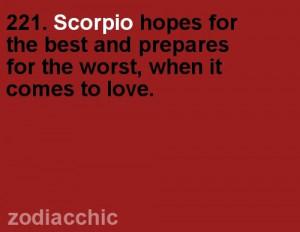 Scorpio - love. Emphasis on 'Hope'