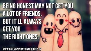 friendship quotes honesty