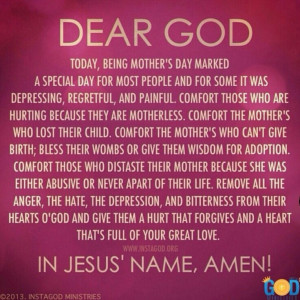 Happy Mothers Day Prayer