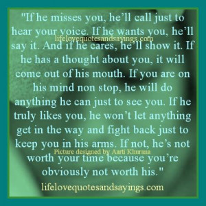 If Your Man Misses You..