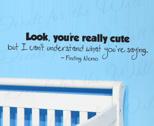 Finding Nemo Dory Wall Decal Quote