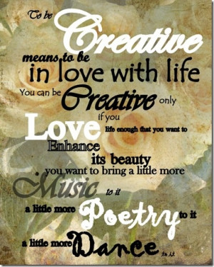 creativity ~ I am a consciously creative being of infinite potential ...
