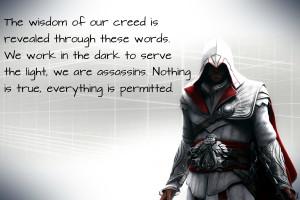 Ezio quote, Nothing is true. by Nolan989890