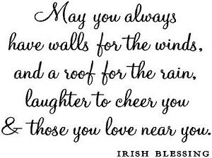 Wall Quotes Irish Family Blessing Vinyl Wall Sayings