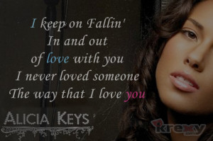 Alicia Keys Quotes - Fallin' With Lyrics - Alicia Keys | Krexy Living