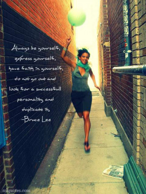Bruce Lee Picture Quote Express Yourself Mlquotes