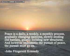 Inspirational post about world peace.