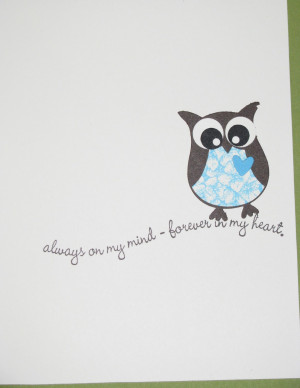 For the outside owls I stamped their bellies with sweet scoops, the ...