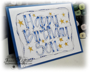 ... far as making cards goes but i did make this card using some lettering