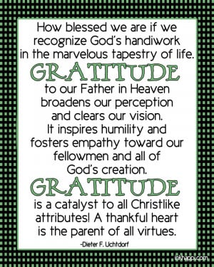 LDS Quotes On Gratitude