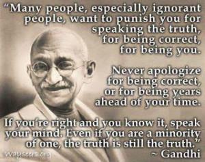 Famous Quote....Mahathma Gandhi