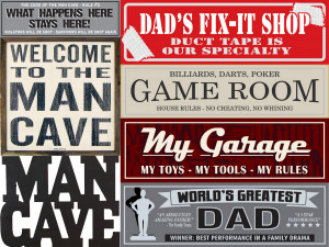 Man Cave and Guys Humor