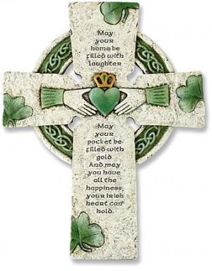 Irish Stoneresin Cross $20.00US