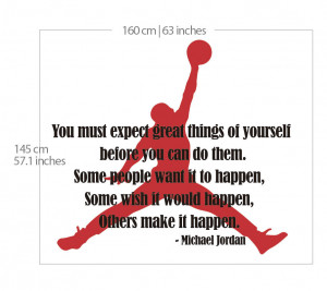 Michael Jordan Typographic Quote Air Jordan Silhouette Sticker