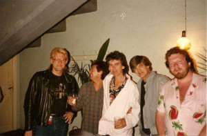 ... Ian McLagan, second from left, and Philip Donnelly.(1985) Image from