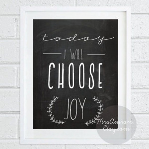 Inspiring Joy Quote Print 8x10 - inspirational print / quote print ...