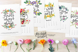 10. Inspirational quotes printable 2015 calendar