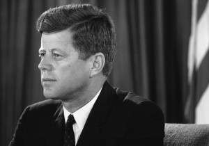 President John F. Kennedy addresses the nation from the Oval Office ...