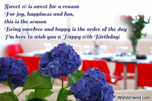 Happy Sweet 16th Birthday Quotes Sweet 16 is sweet for a reason