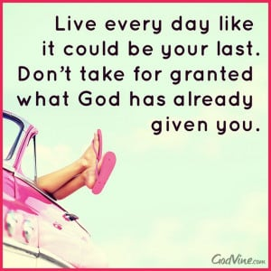 Live every day like it could be the last https://www.facebook.com ...