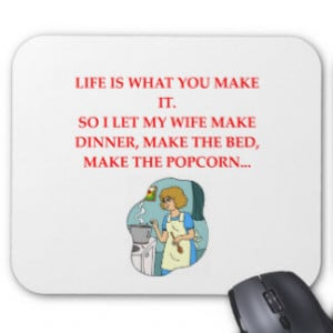 male chauvinist pig joke mouse pad