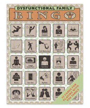 Dysfunctional Family Bingo on Wantist
