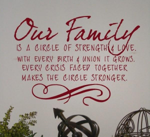 ... union it growsevery crisis faced together makes the circle stronger