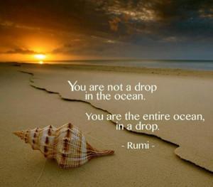 drop in the ocean Rumi Picture Quote