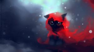 Apofiss水彩小黑猫Yin壁纸