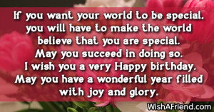 ... . May you have a wonderful year. Wishing you a very Happy Birthday