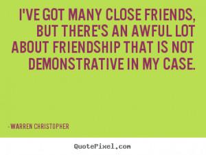 Warren Christopher Friendship Print Quote On Canvas