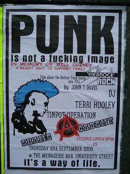 Punk is not just the sound, the music. Punk is a life-style. There are ...