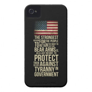 Right To Bear Arms - Thomas Jefferson Quote iPhone 4 Cases